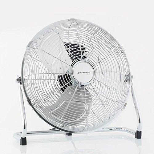 bodenventilator aus verchromtem metall ventilator o ca 35cm stufenlos neigbar zur erfrischung kuehlventilator mit 3 leistungsstufen als windmaschine - Bodenventilator aus verchromtem Metall Ventilator Ø ca. 35cm stufenlos neigbar - Zur Erfrischung Kühlventilator mit 3 Leistungsstufen als Windmaschine