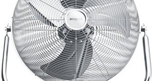 Brandson Windmaschine Retro Stil Ventilator in Chrom 310x165 - Brandson - Windmaschine Retro Stil - Ventilator in Chrom - Standventilator 30cm - Bodenventilator - hoher Luftdurchsatz - robuster Stand - stufenlos neigbarer Ventilatorkopf - silber