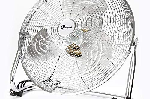 BMOT 120 Wattboden ventilator Bodenventilator im Chrom Design,50 cm Durchmesser 500x330 - BMOT 120 Wattboden ventilator Bodenventilator im Chrom Design,50 cm Durchmesser, 4 Laufgeschwindigkeiten,hoher Luftdurchsatz, Tragegriff,Neigungswinkel verstellbar